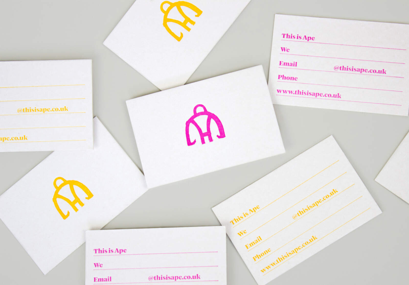 Ape branding used on business cards.