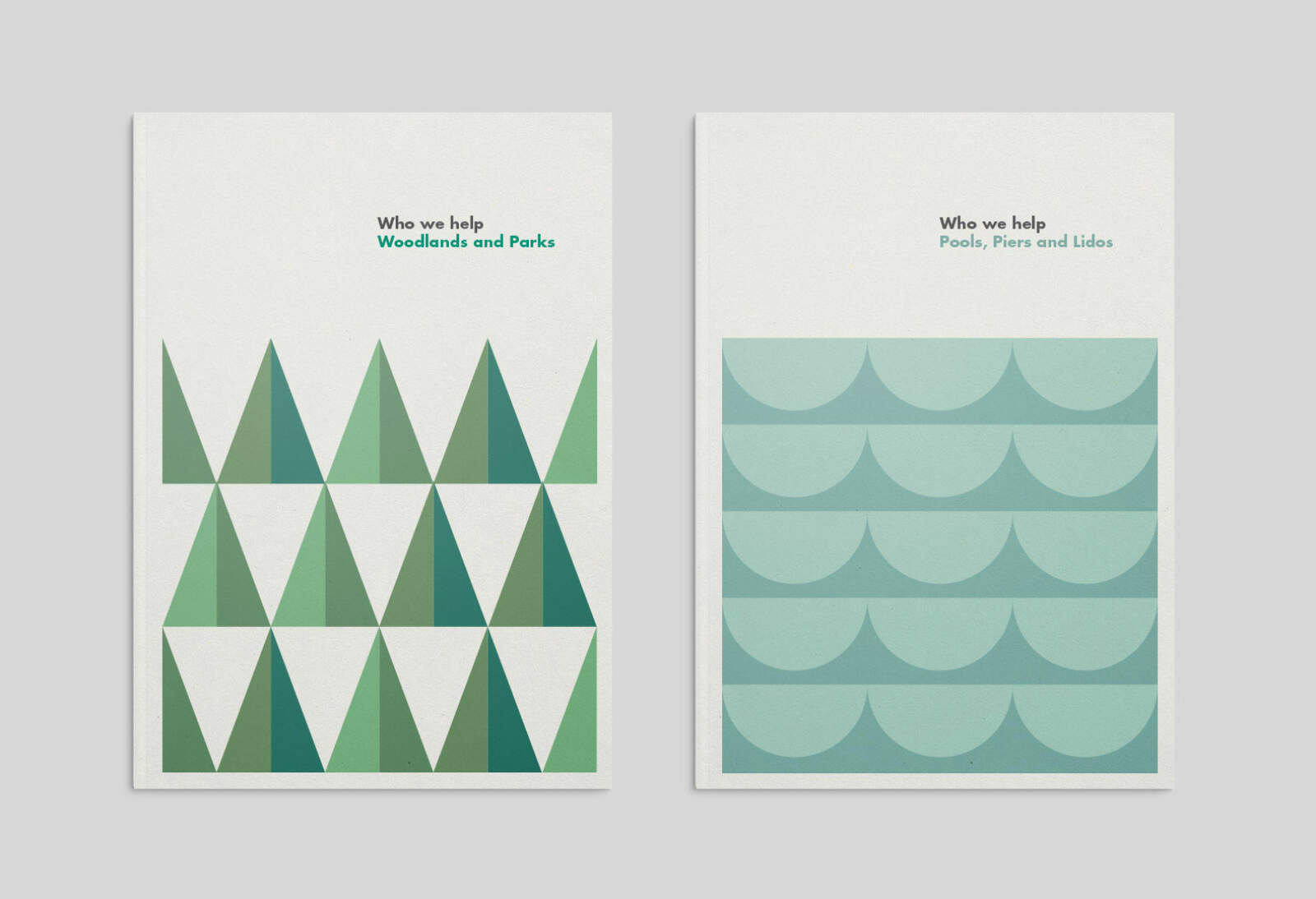 Community Shares printed report covers designed using our pattern based design system.