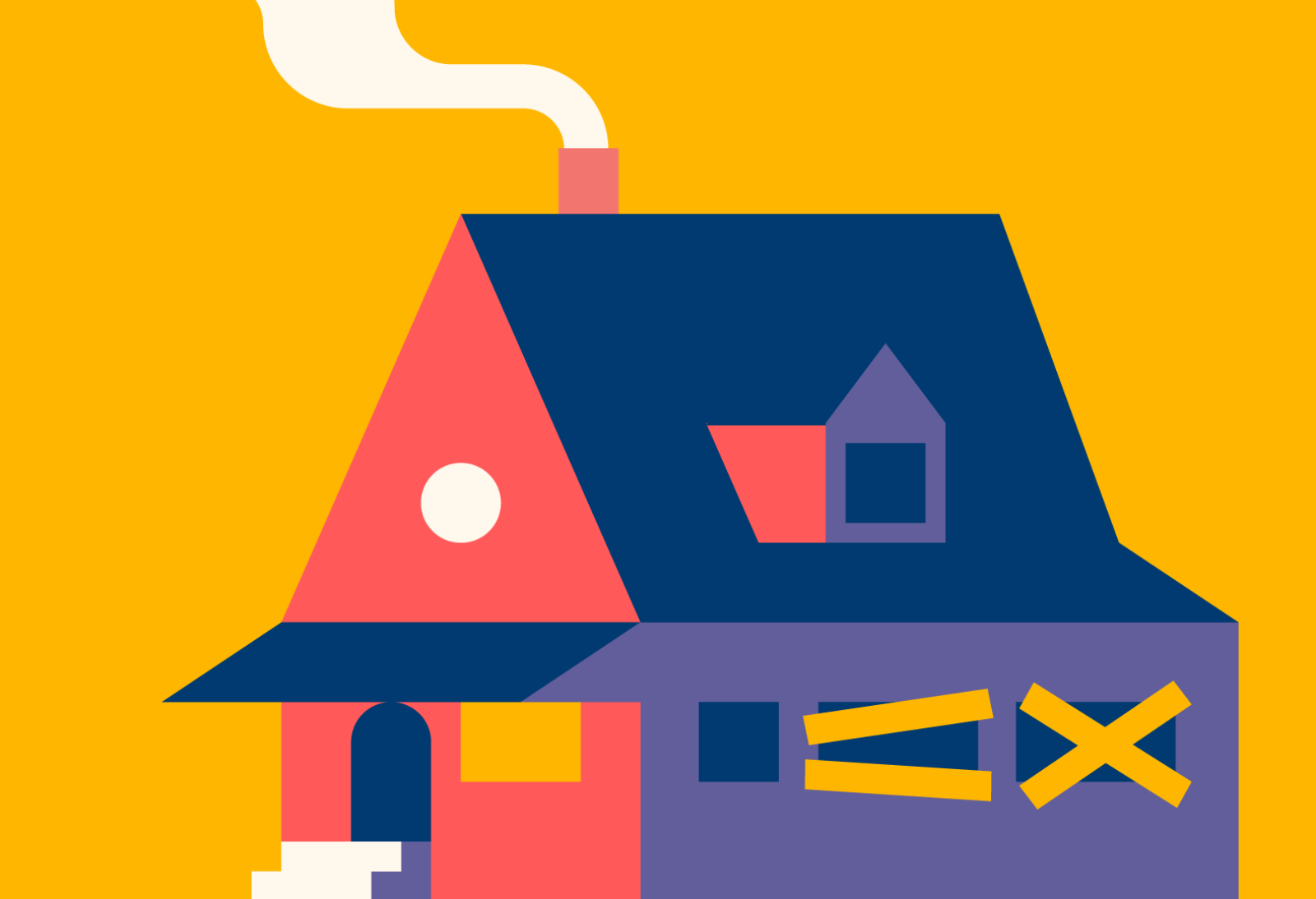 Illustrated house used as inspiration in the Fabled digital product.