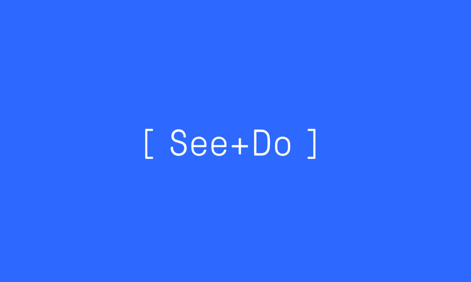 Type based logo for the See+Do event listing website.