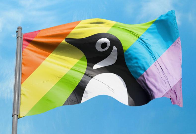 Flag design for Penguin's presence at the Pride festival.
