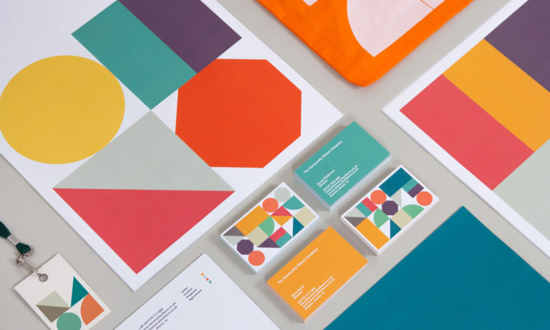Community Shares branding applied to their printed stationery — business cards, letter heads, compliment slips, etc.