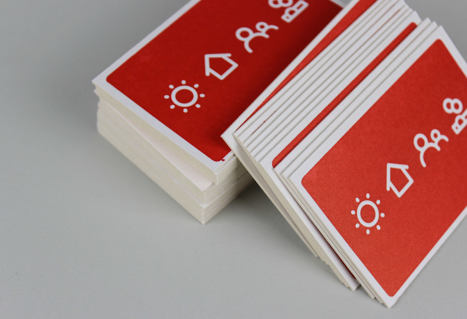 Carbon Coop business cards using custom icons.
