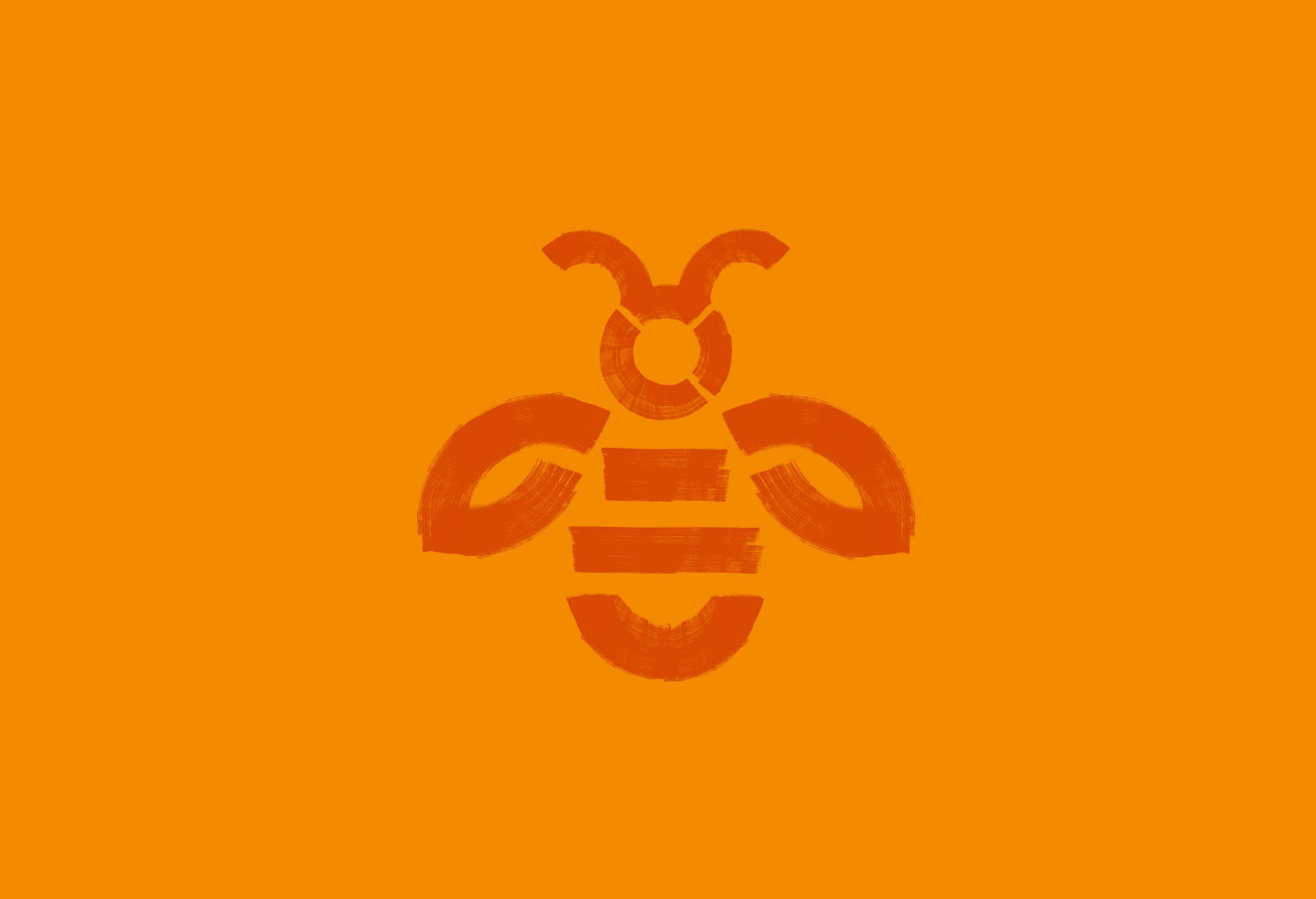 Abstract illustrated bee for the Global Generation branding.