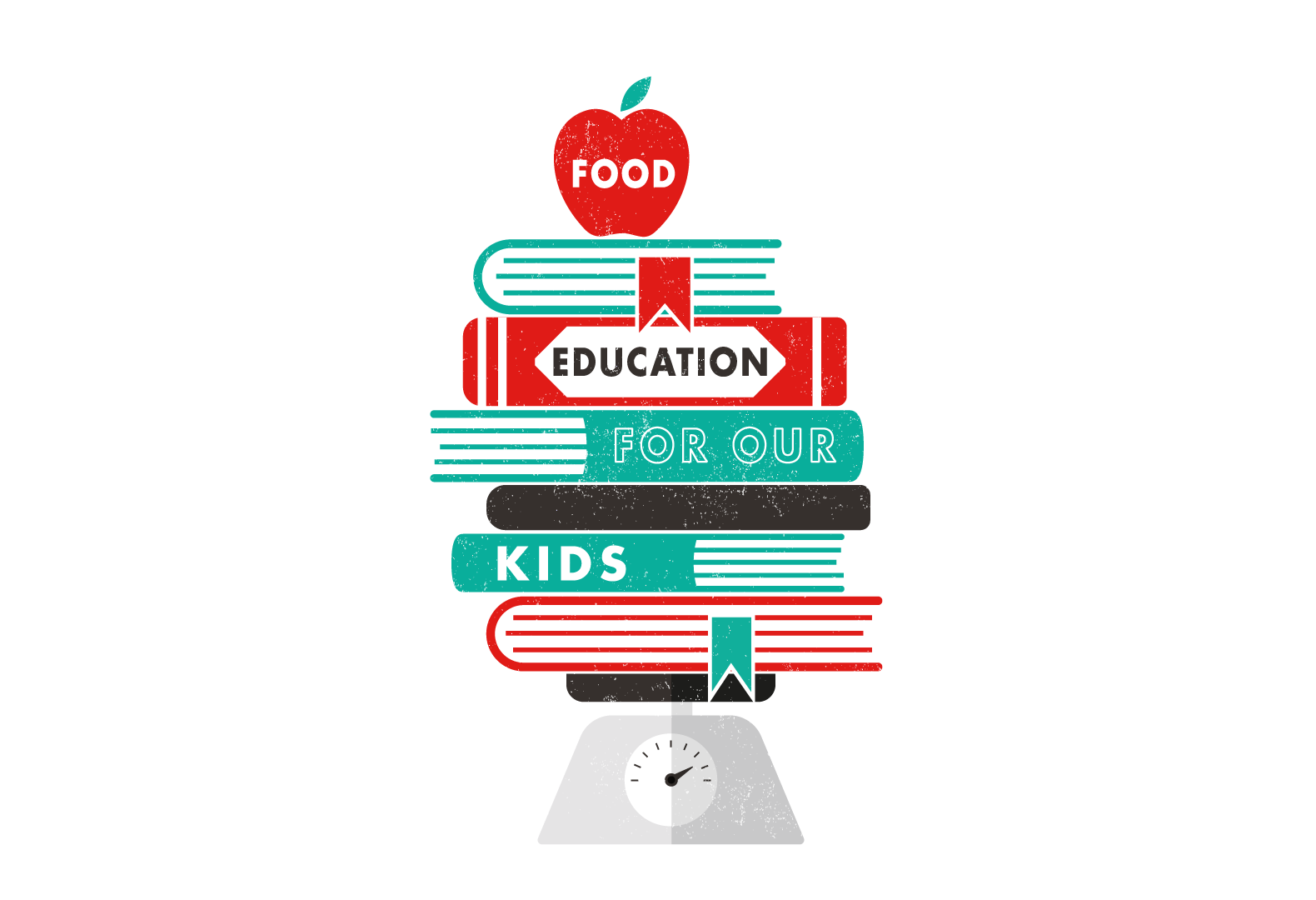 """Food education for our kids,"" illustration for the Jamie liver Food Revolution campaign."