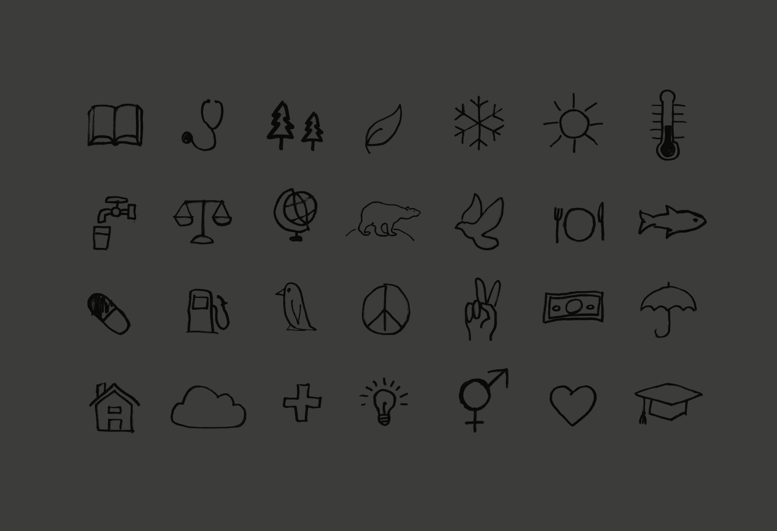 Custom icons for the Project Everyone branding.