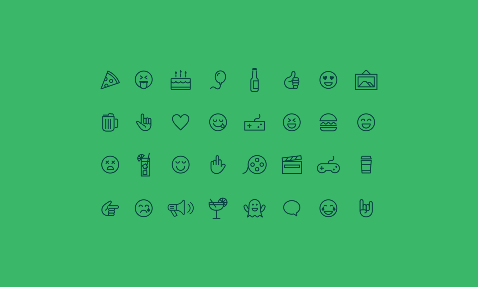 Collection of custom emojis for the See+Do event website.