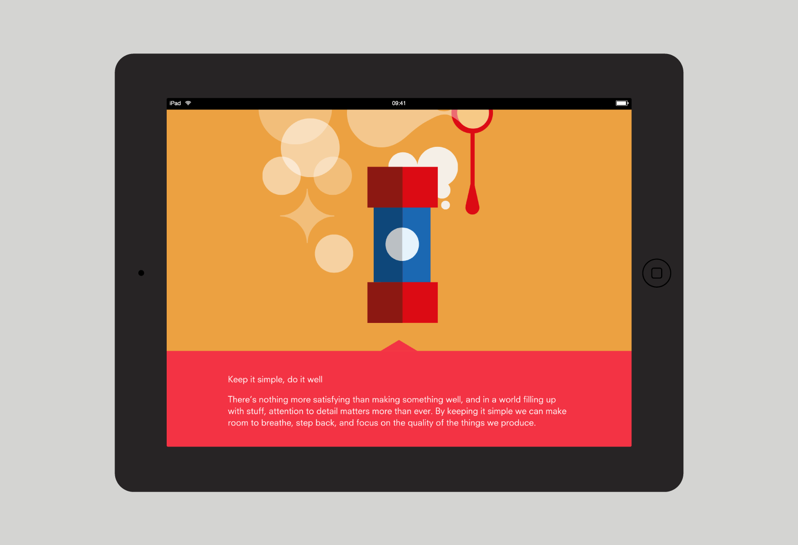 Illustration and text layout on iPad for A Guide to Making Things.